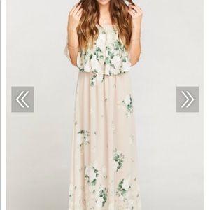 Show me your mumu bouquet toss hacienda dress